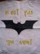 Totebag batman, logo batman dans the dark night, super héro, cousu et peint à la main