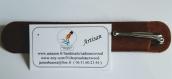 Stylo personnalisable bois de louro préto gravure offerte.