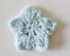 3 lingettes démaquillantes en tricot étoiles