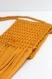 Sac bandoulière à franges en crochet fait main jaune