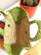 Petit sac à main en raphia au crochet fait main beige et vert sauvage
