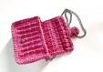 Sac bandoulière au crochet fait main rose