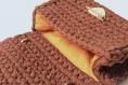 Sac bandoulière au crochet fait main marron