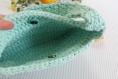 Sac à main à marguerite bleu turquoise, sac baguette au crochet fait main