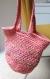 Sac tote bag au crochet couleur pêche, sac fourre-tout style scandinave orange
