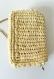 Petit sac bandoulière en crochet fait main jaune