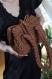 Sac à main en crochet fait main marron