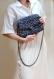 Sac bandoulière à rayures bleu marine et blanc, sac au crochet fait main marinière