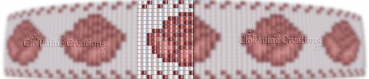 Motif : loom manchette rose