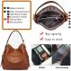 Bestou sac a main femmes pu cuir sac à bandoulière d'épaule fourre-tout portefeuille set (marron)