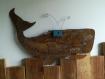 Baleine en bois, baleine métal, décoration murale, décoration bord de mer, accessoire de bureau, objet décoration écologique, ray-kup