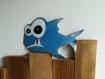 Poisson humoristique réalisé avec un fût recyclé, idéal pour décorer une chambre d'enfant ou un bureau