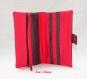 Portefeuille noir à petit pois rouge rouge