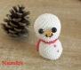 Bonhomme de neige en perles suspension sapin