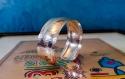 Bracelet de manchette en argent 925 martelé à la main