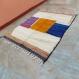 Tapis beni ouarain marocain fait main en laine naturelle, tapis berbère marocain 250/160 cm