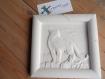Tableau en plâtre à peindre style savane girafe, eléphant ou guépard