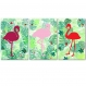3 affiches flamants roses, exotic, tropical, triptyque