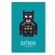 3 affiches superhéros, spiderman, batman, iron man, décoration garçon, chambre enfant, poster coloré