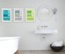 3 affiches enfant citation, règles de la salle de bain, humour, message