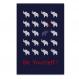 2 affiches citation enfant avec éléphants, garçon, blanc, bleu, chambre garçon