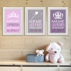 3 affiches citations enfant en français, princesse, fée, reine, humour, conseil enfant