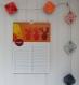 Calendrier perpetuel pour noter les anniversaires, mural, cadeau d'anniversaire