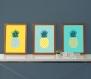 3 affiches ananas, exotique, tropical, design, cadeau pour les femmes, décoration salon