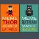 3 affiches superhéros avec citation humoristique pour décoration murale, chambre enfant ou salle de bain, humour, cadeau amusant