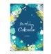 Birthday calendar, perpetual calendar, a4, blue, organizer