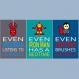 3 affiches citation superhéros en français, chambre enfant, même les supers héros, décoration garçon, affiche humour