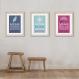 6 affiches citations enfant avec ariel, rebelle, raiponce, elsa, conseil humour, cadeau fille, règle de la maison