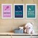 3 affiches citation avec ariel, rebelle, raiponce, 20 x 30 cm, conseil enfant avec humour, poster fille pour chambre