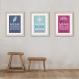 3 affiches citations enfant en français avec mulan, pocahontas, reine des neige, décoration chambre de fille