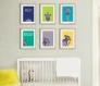 3 affiches enfant colorée, singe et mot