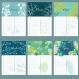 Lot avec calendrier des anniversaires, bloc-notes a5 + petit bloc-notes a6, motif feuillage coloré, idée cadeau