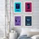 4 affiches adolescente, décoration chambre de fille, poster enfant