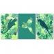 3 affiches jungle avec perroquets, grand format 30 x 45 cm, tendance déco, décoration exotique, tropical
