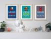 9 affiches superhéros avec citations, chambre enfant ou salle de bain, cadeau pour garçon, décoration garçon