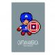 4 affiches superhéros, spiderman, captain america, iron man, décoration garçon, chambre enfant, poster