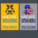 2 affiches citations avec superhéros, wolverine et captain america, même les supers héros, en français