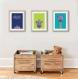 3 affiches enfant colorées amusantes avec girafe, décoration, chambre bébé garçon