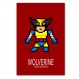 5 affiches superhéros, wolverine, spiderman, iron man, décoration garçon, chambre enfant, poster
