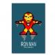 3 affiches captain america, superman, iron man, super heros, poster, décoration enfant, chambre garçon