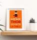 3 affiches citation superhéros en français, chambre enfant, humour, même les supers héros