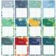 Petit calendrier des anniversaire tropical, format a5 14.8 x 21 cm