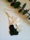 Boucles d'oreilles en feuilles vertes eucalyptus