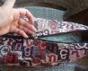 Taies d'oreiller arménien fait main, housse de coussin, alphabet arménien