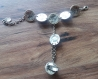 Bracelet bague arménienne avec l'onyx noir, chaîne à la main bracelet, harnais à la main, bracelet esclave