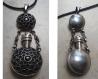 Pendentif arménien ethnique de bouteille de parfum en argent